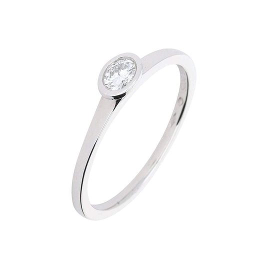 Furrer Jacot Ring Furrer Jacot Platinum 0.25ct diamond solitaire ring with rubover setting