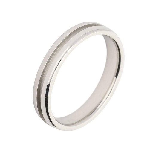 Furrer Jacot Ring Furrer Jacot Platinum 4mm band with centre groove