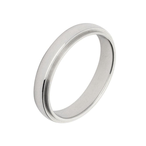 Furrer Jacot Ring Furrer Jacot Platinum 4mm band with stepped centre