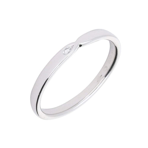Furrer Jacot Ring Furrer Jacot Platinum and diamond set band with side cut outs