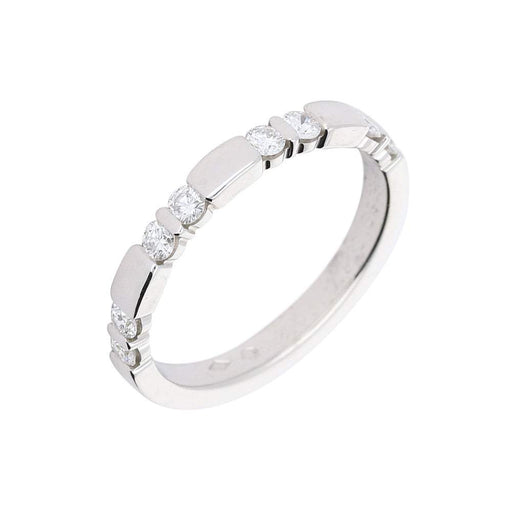 Furrer Jacot Ring Furrer Jacot Platinum band with eight brilliant cut diamonds