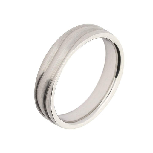 Furrer Jacot Ring Furrer Jacot Platinum band with wavy grooves
