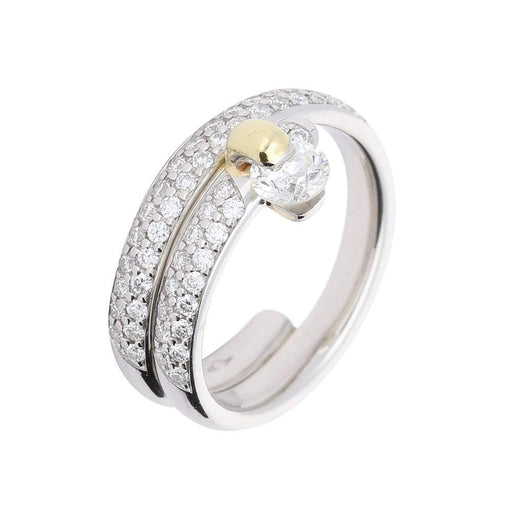 Furrer Jacot Ring Furrer Jacot Platinum feelings diamond ring with diamond set double wrap band