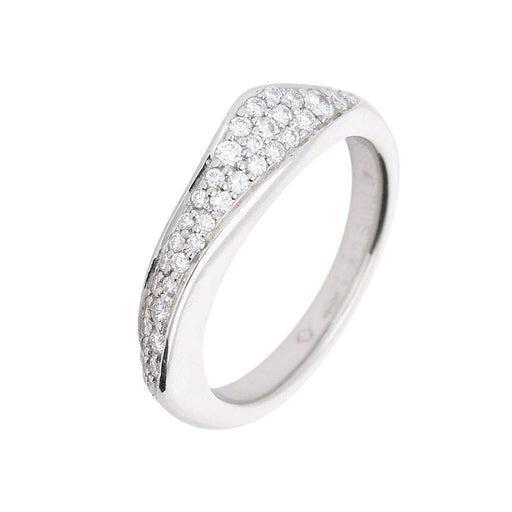 Furrer Jacot Ring Furrer Jacot Platinum feelings diamond set ring with carved organic look