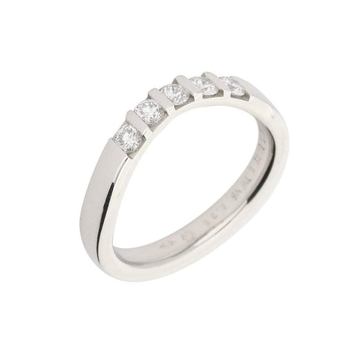 Furrer Jacot Ring Furrer Jacot Platinum shaped band with 5 bar set diamonds