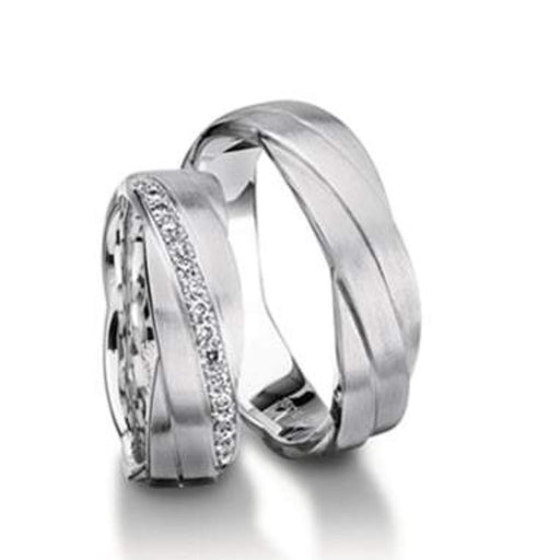 Furrer Jacot Ring Platinum patterened wedding band