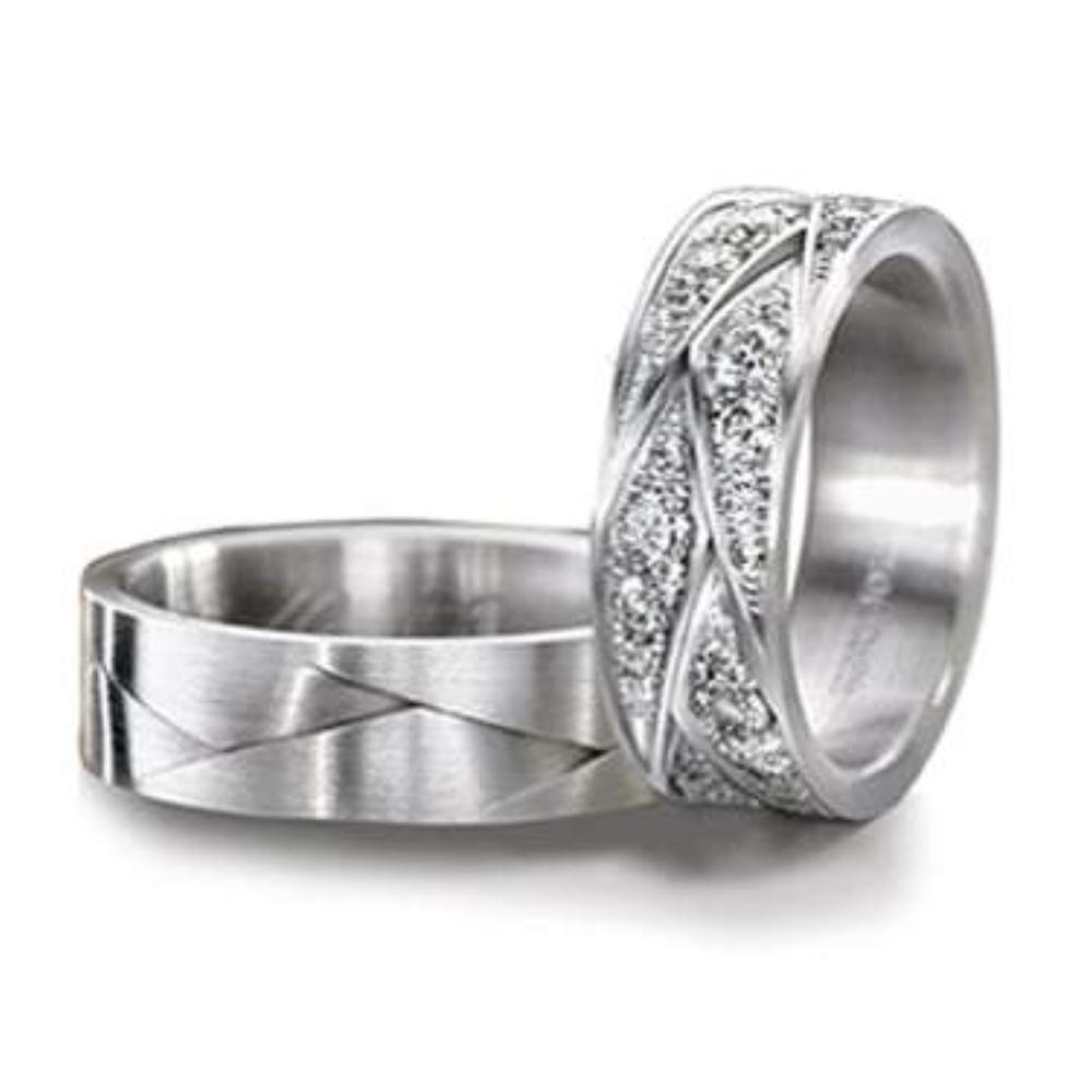 Furrer Jacot Ring Platinum Sculptures wedding band