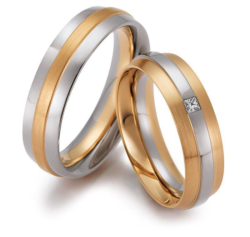 Gerstner Ring 18ct white and rose gold band