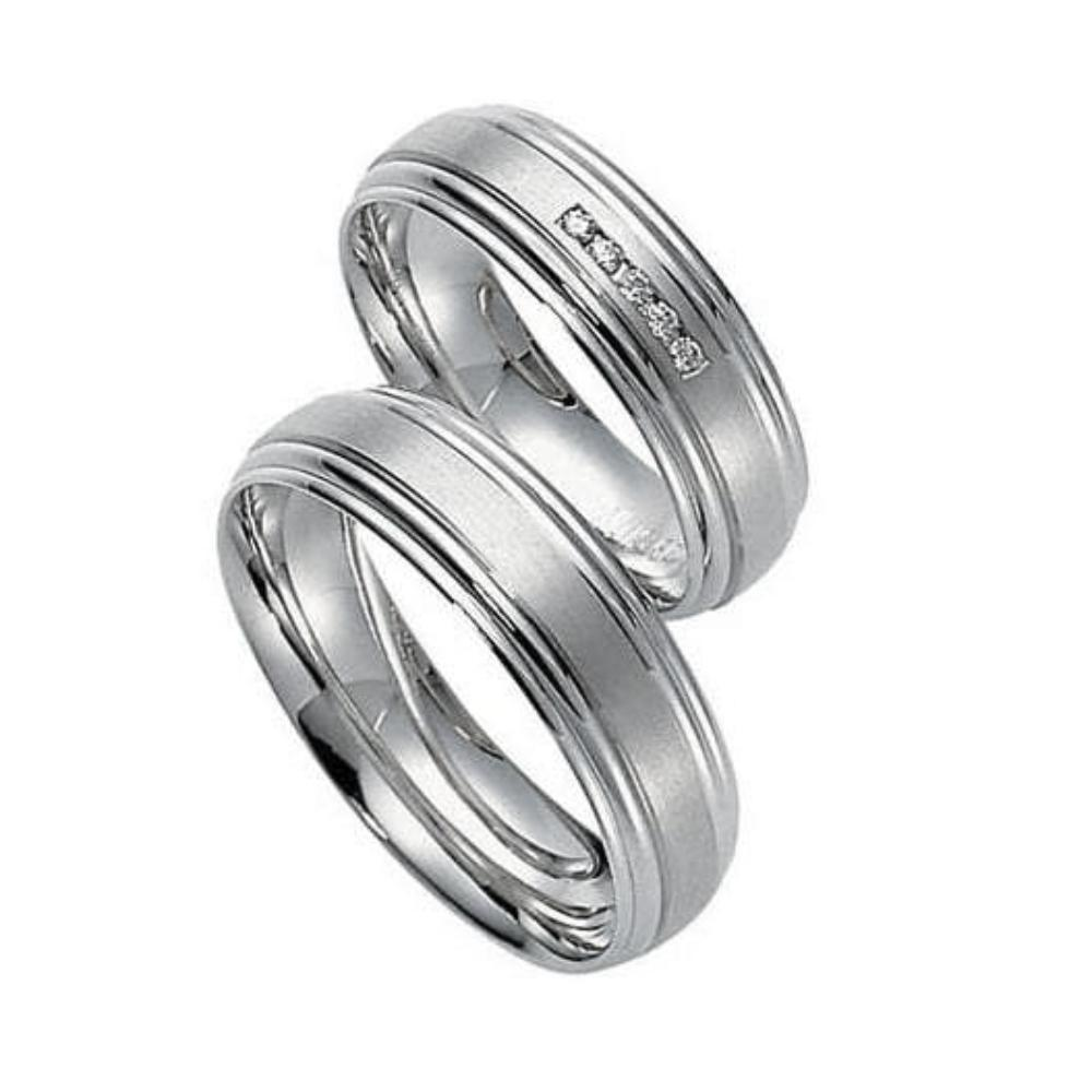 Gerstner Ring 18ct white gold grooved wedding band