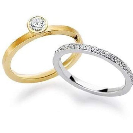 Gerstner Ring 18ct yellow gold diamond solitaire ring