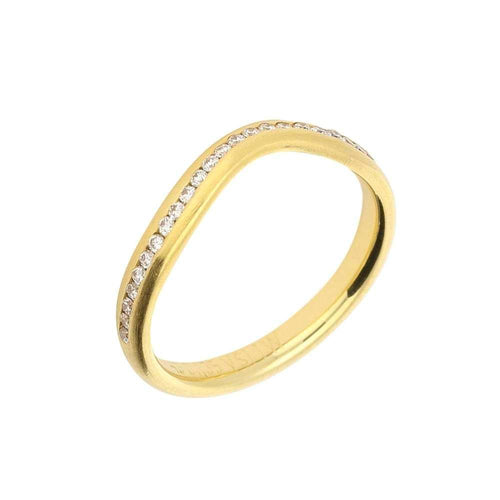 Gerstner Ring Gerstner 18ct gold diamond shaped half eternity ring
