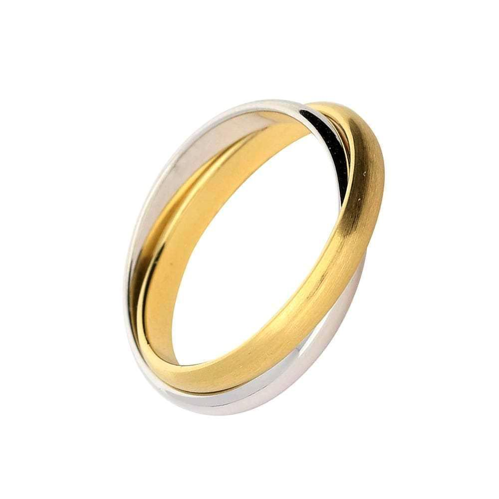 Gerstner Ring Gerstner 18ct white and yellow gold russian wedding band