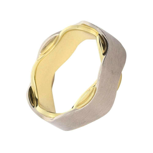 Gerstner Ring Gerstner 18ct white and yellow gold wavy band
