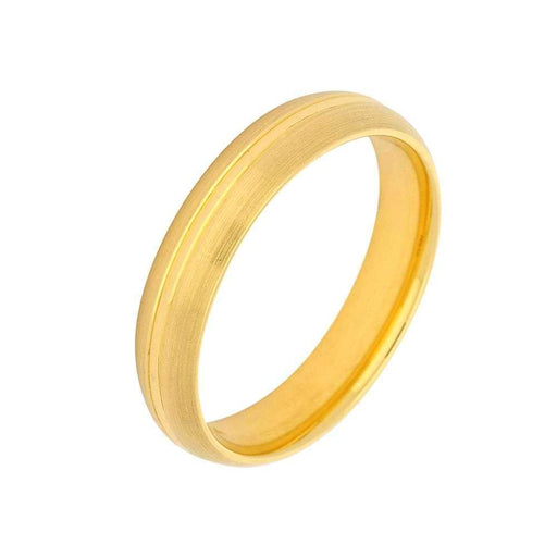 Gerstner Ring Gerstner 18ct yellow gold satin band with polished centre