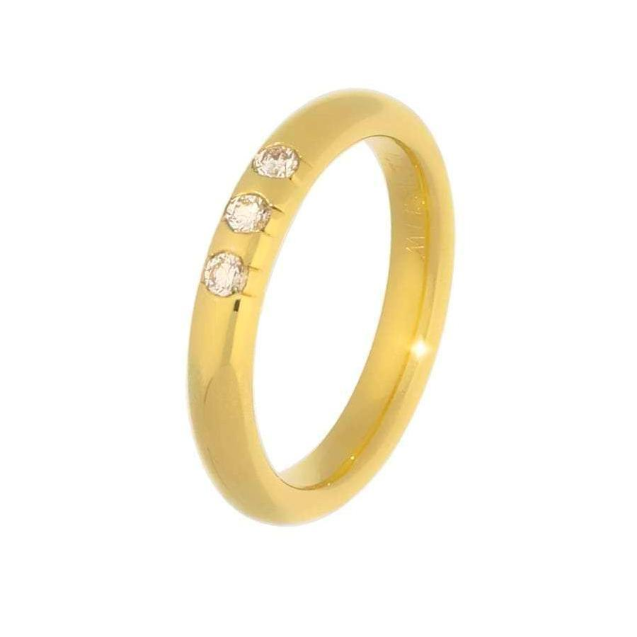 Gerstner Ring Gerstner 18ct yellow gold three stone diamond eternity ring