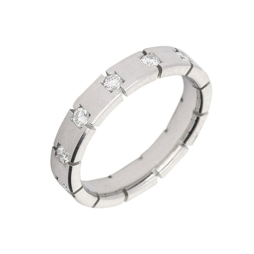 Gerstner Ring Gerstner Platinum diamond square and cut set full eternity band