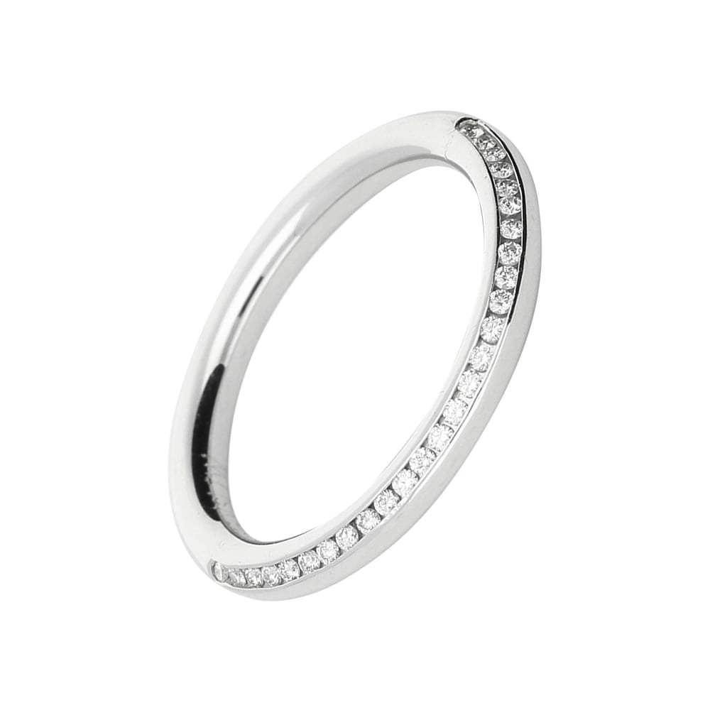 Gerstner Ring Gerstner Platinum edge set diamond half eternity band