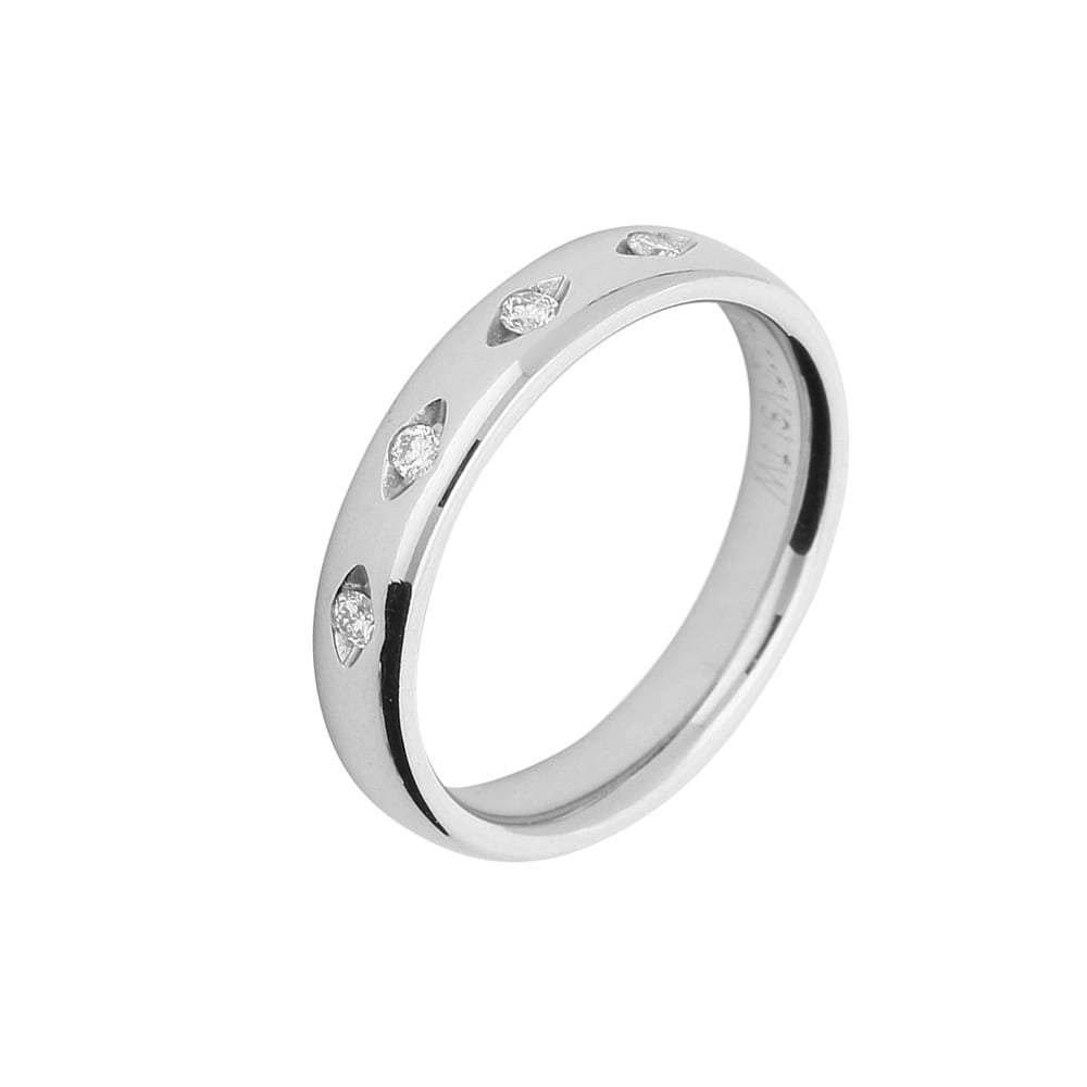 Gerstner Ring Gerstner Platinum eye shape set diamond band