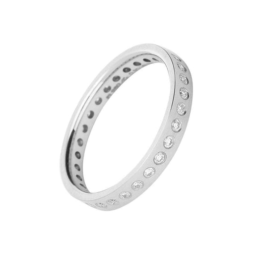 Gerstner Ring Gerstner Platinum flush set brilliant cut diamond full eternity band