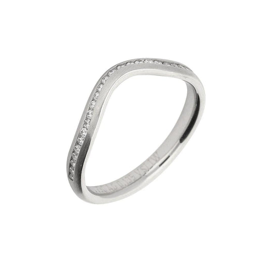 Gerstner Ring Gerstner Platinum shaped channel set half eternity ring