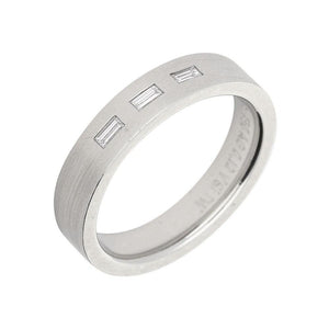 Gerstner Ring Gerstner Platinum three baguette diamond band