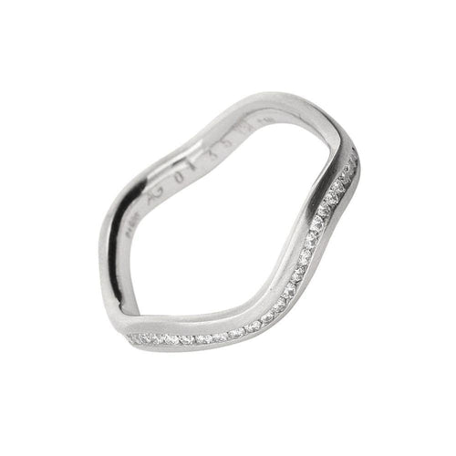 Gerstner Ring Gerstner Platinum wavy diamond half eternity band