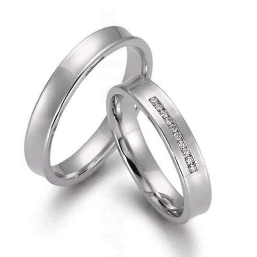 Gerstner Ring Platinum diamond concave wedding band