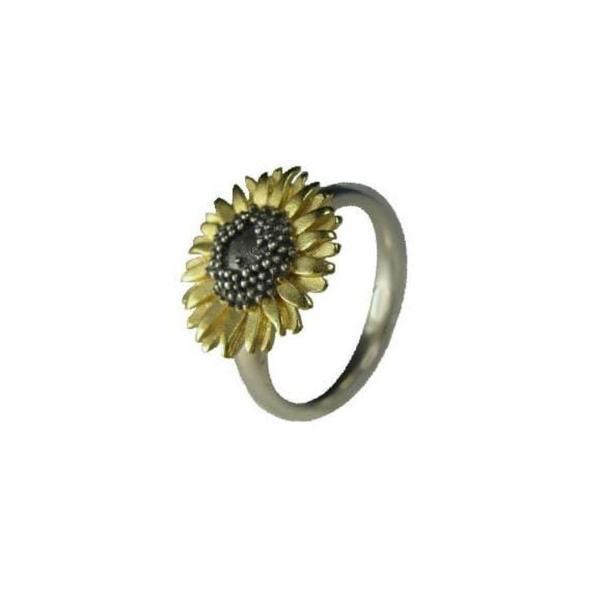 Ring Gold medium sunflower ring