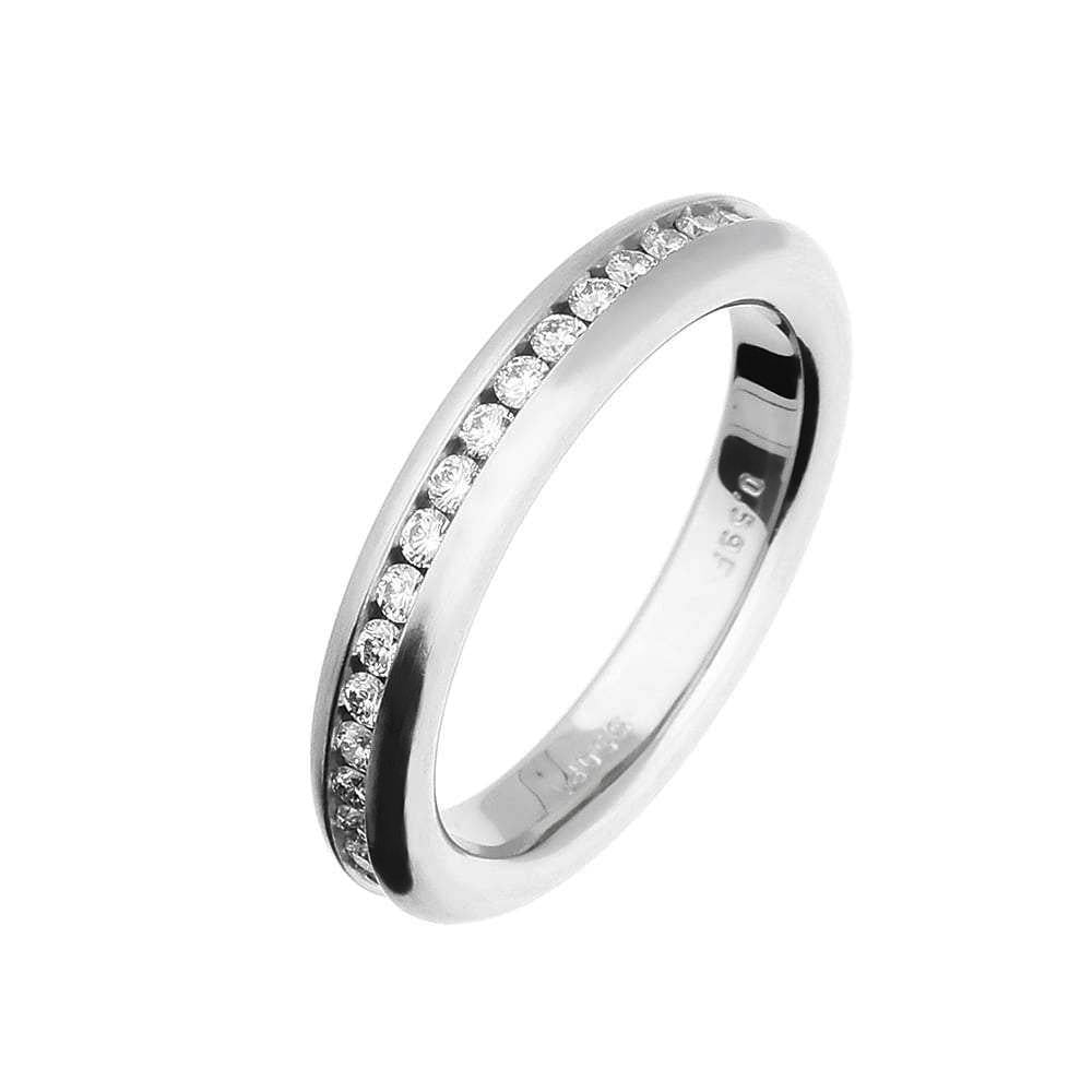 Henrich & Denzel Ring A heavy H & D platinum and brilliant cut diamond set full Eternity band