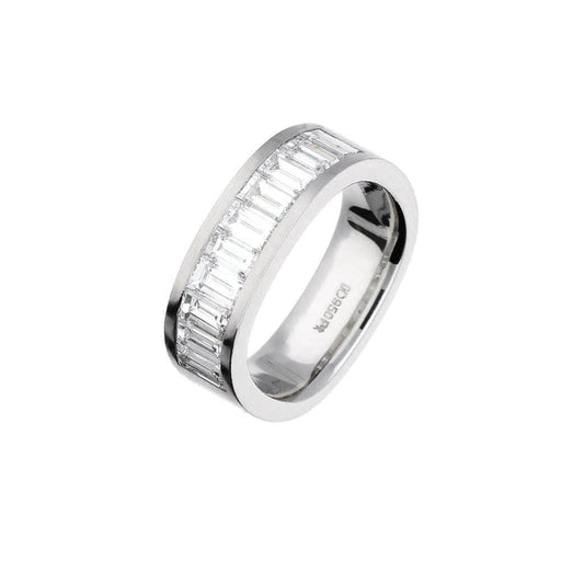 Henrich & Denzel Ring A lovely platinum square shape band encrusted with baguette Diamonds