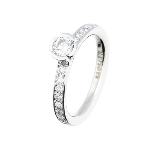 Henrich & Denzel Ring Platinum 0.32ct diamond ring with brilliant set shoulders