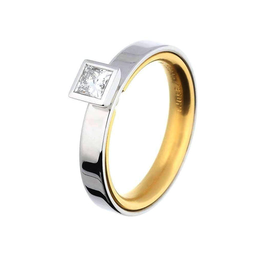 Henrich & Denzel Ring Platinum & 18ct Gold princess cut Diamond ring