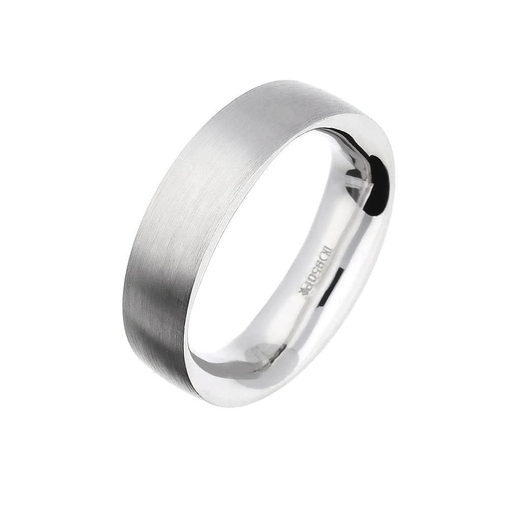 Henrich & Denzel Ring Platinum band with comfort fit