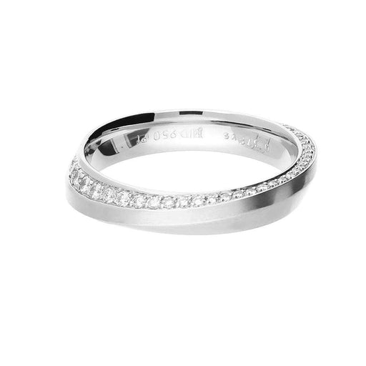 Henrich & Denzel Ring Platinum & Diamond shaped wedding band