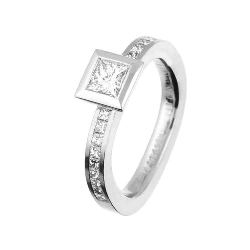 Henrich & Denzel Ring Platinum Princess multi Diamond ring