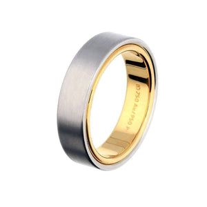 Henrich & Denzel Ring Platinum with yellow gold mix wedding band