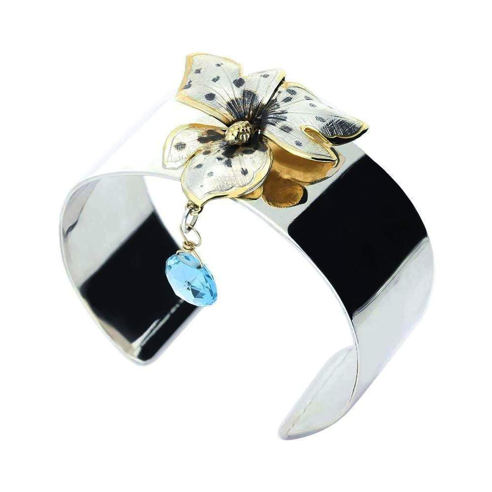 Jacey Withers Bangle Jacey Withers Silver gold black tiger orchid bangle