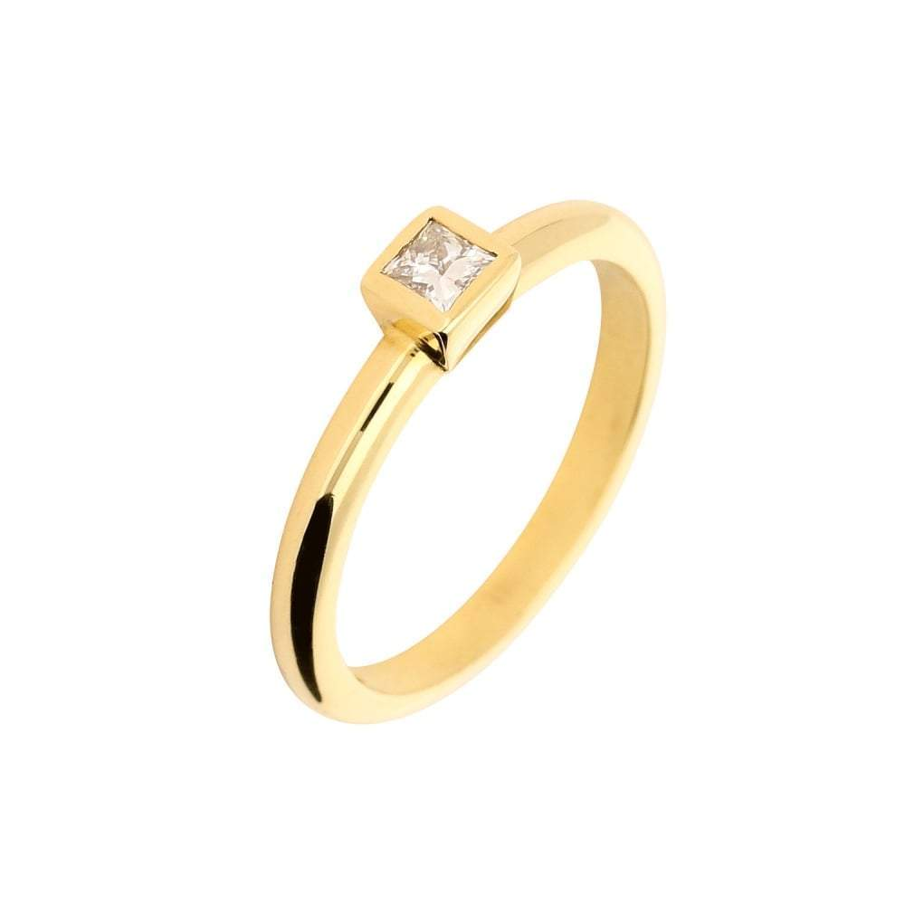 Jeremy Hoye Ring Jeremy Hoye 18ct gold princess cut diamond ring