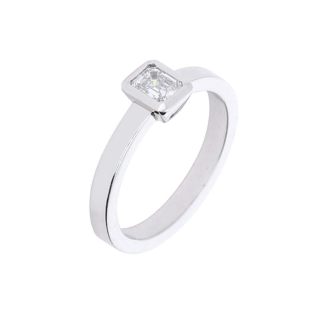 Jeremy Hoye Ring Jeremy Hoye Platinum emerald cut diamond ring