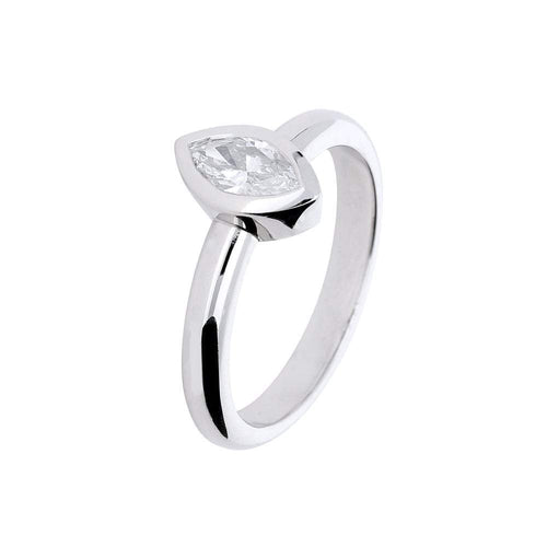 Jeremy Hoye Ring Jeremy Hoye Platinum marquise diamond ring
