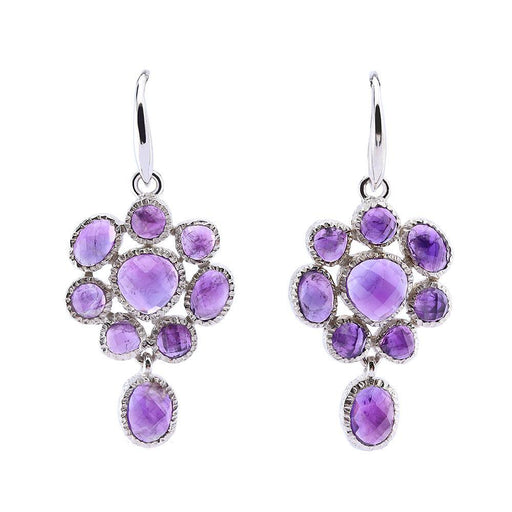 Jorge Revilla Earrings Jorge Revilla Silver Amethyst carey hook earrings