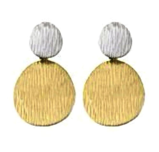 Jorge Revilla Earrings Jorge Revilla Silver and gold plate fall drop earrings