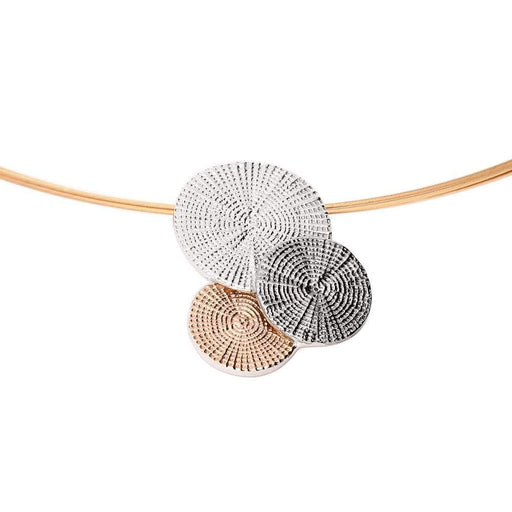 Jorge Revilla Necklace Jorge Revilla Silver and rose gold black twilight neckwire
