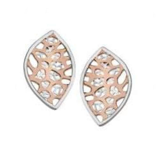 Jorge Revilla Earrings Jorge Revilla Silver and rose gold reef stud earrings