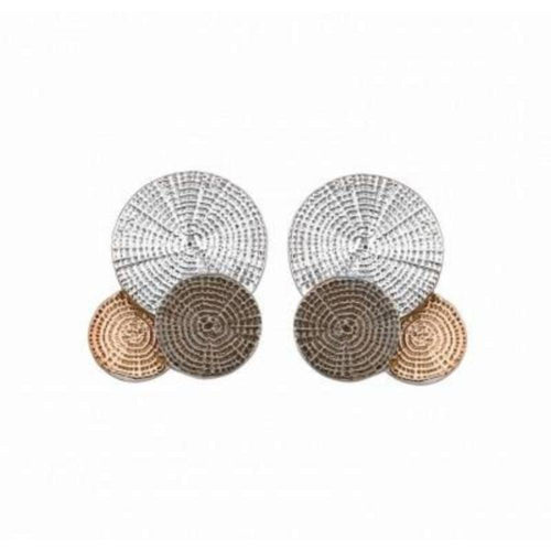 Earrings Jorge Revilla Silver black rose gold twilight stud earrings