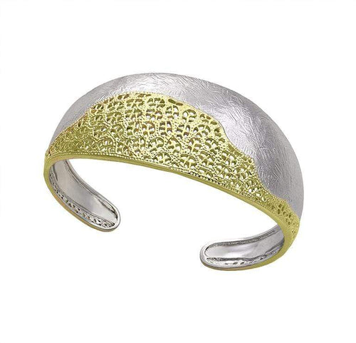 Bangle Jorge Revilla Silver gold treasure bangle