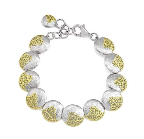 Bracelet Jorge Revilla Silver gold treasure disc bracelet