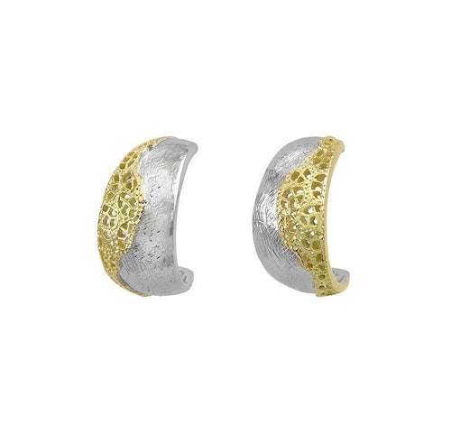 Earrings Jorge Revilla Silver gold treasure half hoop earrings