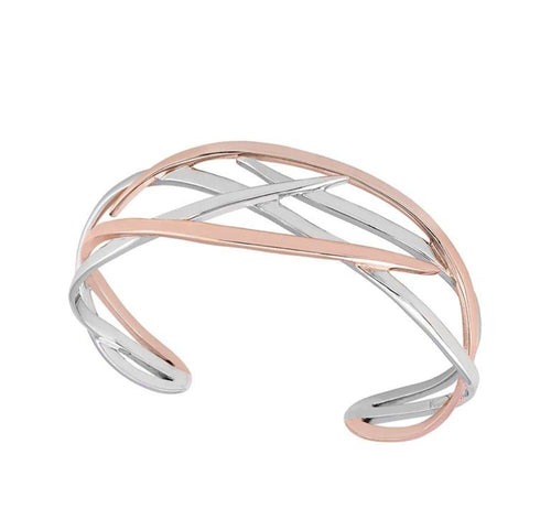 Bangle Jorge Revilla Silver rose gold roots bangle