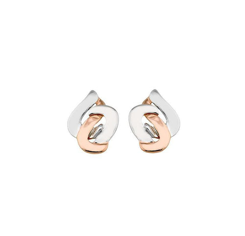 Earrings Jorge Revilla Silver rose gold swing stud earrings